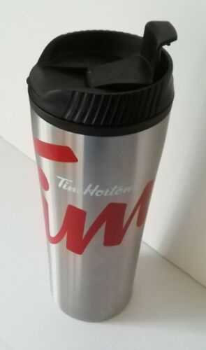Tim Hortons STAINLESS STEEL Coffee Travel  Mug  NEW
