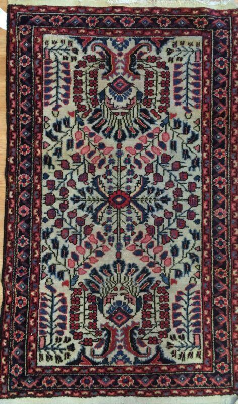 Lovely Lilihan - 1920s Antique Persian Sarouk Rug - Hamadan Carpet 2.5 X 4.7 Ft.