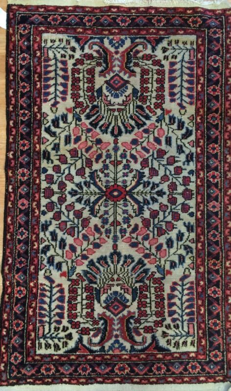 Fantastic Floral - 1920s Antique Oriental Rug - Handmade Carpet - 2.5 X 4.7 Ft.