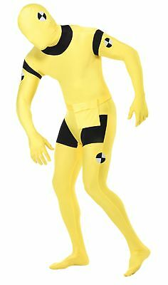 Crash Test Dummy Adult Costume Yellow Skin Suit Funny Halloween - Test Dummy Costume