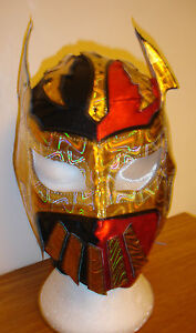 SIN CARA FANCY DRESS UP COSTUME MASKS BLUE RED BLACK SILVER GOLD WWE WRESTLING