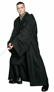 Black JEDI / SITH ROBE Only - Excellent Quality Star Wars Costume Cloak from UK