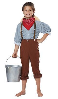 Boys Early Pioneer American Halloween Costume Size Medium - Boys Pioneer Costume