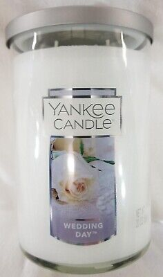 Yankee Candle WEDDING DAY Large 2-Wick Tumbler Jar White 22 oz Wax Floral