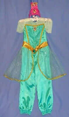 Disney Princess Jasmine costume girls 4-6 Aladdin-tiara/crown-necklace-NEW LOT-3 - Princess Jasmine Tiara