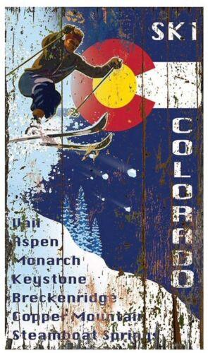 SKI COLORADO TIN SIGN VAIL ASPEN KEYSTONE MONARCH BRECKENRIDGE COPPER MOUNTAIN