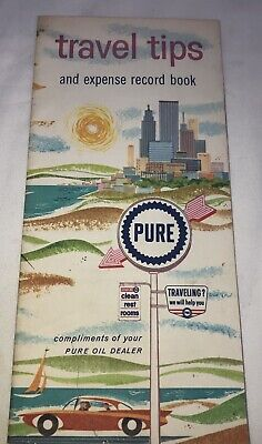 Vintage Pre-1970's Pure Oil Company Travel Tips and Expense Brochure 60s