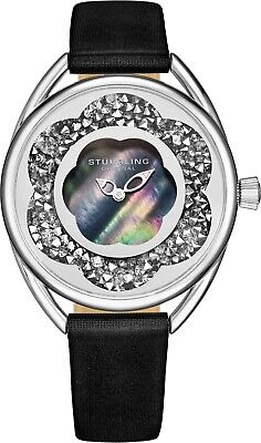 Stuhrling Lily 995 Japanese Quartz 38mm Ladies Mother of Pearl  Leather Watch