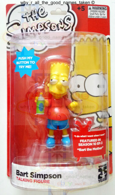 The SIMPSONS Talking Action Figure BART featured in BART THE MOTHER - S10-E3 [d]