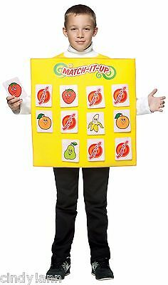 MATCH IT UP GAME HALLOWEEN COSTUME RASTA IMPOSTA  CHILD SIZE 7 - 10