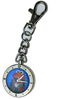 New Old Stock Sesame Street Collection Elmo Key Chain Pocket Watch Fantasma
