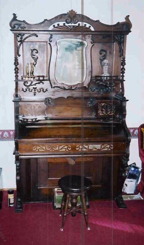 Victorian 1890 Antique Walnut Pump, as is fair condition.