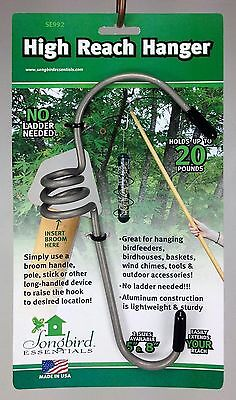 High Reach Hanger Large for Bird Feeders, Wind Chimes, Baskets, etc.