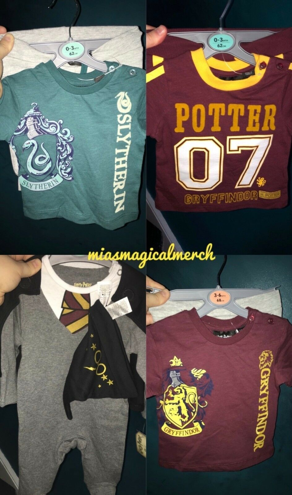 Brand New Baby Boy's Primark Harry Potter Baby Clothing 4 To