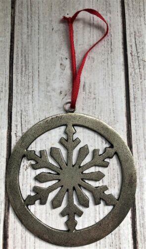 Vintage Norwegian Metal Snowflake Ornament Christmas Jul