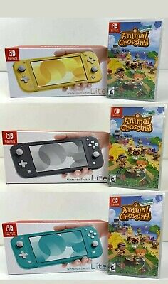 Nintendo Switch Lite + Animal Crossing Yellow - Grey - Blue Turquoise PICK COLOR