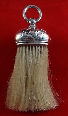 "Antique 1905 English Sterling Silver Brush, Birmingham - Snyder & Beddoes, 7"" L."