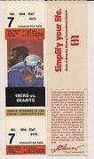 New York Giants Ticket Stub