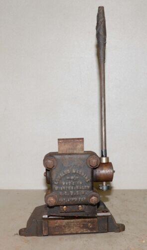 Rare printing press tool Low Slug Machine antique type cutter collectible print