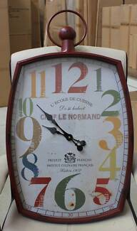 Large Red Metal Clock (Brand New) #4305