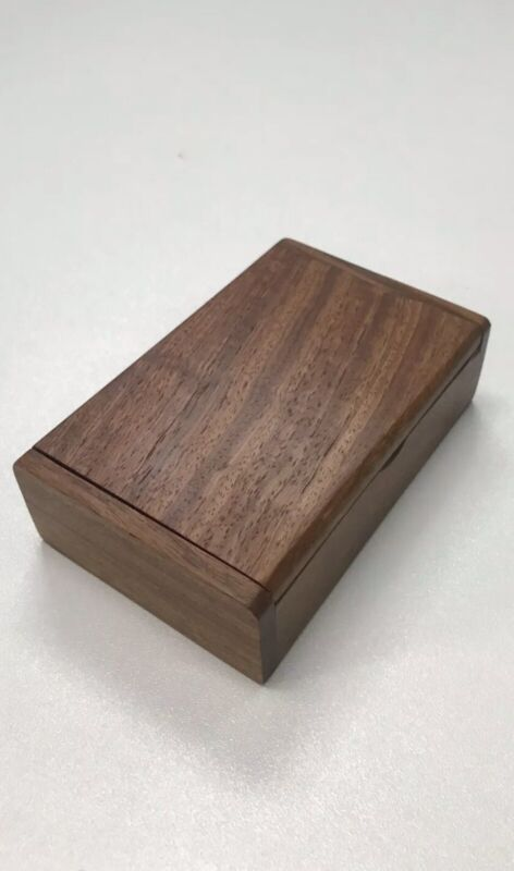 Wooden Vintage Box With Lid Cigar Jewelry Name Card Tools