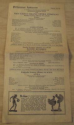 "1922-23 ADVERTISING Brochure/Program~""PHILHARMONIC AUDITORIUM""~Los Angeles OPERA"