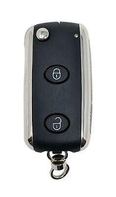 Bentley Keyless Entry Remote FCC KR55WK45032 3 Button Alarm Key Fob Cut Blade
