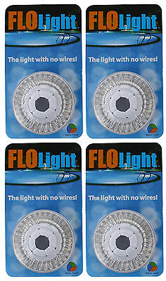 4) LED Swimming Above Inground Pool Flo Lights Wireless Universal Return 4 Pack
