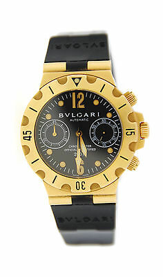 Bvlgari Diagono Scuba Chronograph Automatic 18K Yellow Gold Watch SC38G