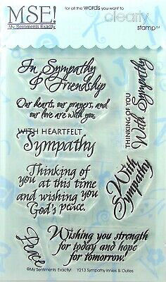 NEW! My Sentiments Exactly! Clear Stamps  Y213 Sympathy Innies & - Sentiments Clear Stamps