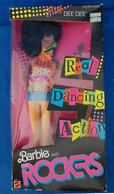 Barbie and Rockers African American DEE DEE 1986 Real Dancing Action NRFB Sealed