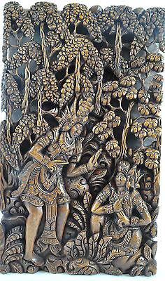 indonesische schnitzerei Bali 3D Wooden Holz Bild Relief Wandbild Holzbild 5A-IB