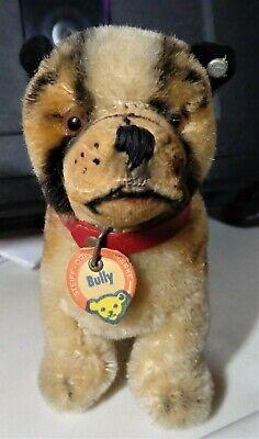 Steiff Vintage Bully the Bulldog handmade German stuffed animal-Collectible Toy