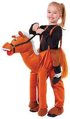 PFERD, SCHRITT, EINHEITSGRÖßE, KINDER KOSTÜM, KIDS/BOYS/GIRLS/UNISEX (Braunes Pferd Kind Kostüm)