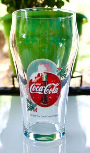 SET OF TWO VINTAGE COLLECTIBLE 1998 COCA-COLA LOGO/SANTA/HOLLY GLASSES NEW