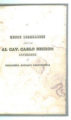AGGRAVI CASAVECCHIA ROSALINDA CENNI BIOGRAFICI CAV. CARLO MICHON LIVORNESE 1839