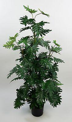 Monsterapflanze 120cm im Topf NT künstliche Pflanzen Kunstpflanzen Kunstbaum