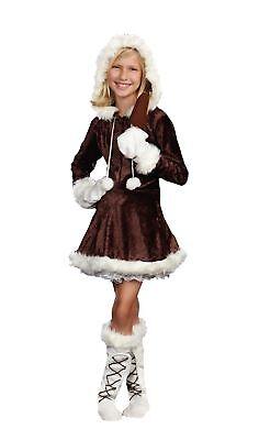 Eskimo Cutie Pie Kinder Mädchen Kostüm Velvet Weihnachten - Eskimo Cutie Kostüm