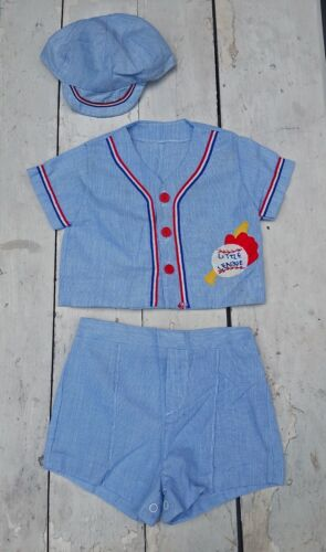 Vintage Baby Red White and Blue Baseball Outfit Set, 3-6 Months