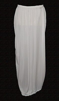 vintage, Half Slip, Shadowline, white Lace Nylon long mint S/34