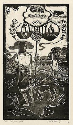 Gauguin Woodcuts: Noa Noa (Fragrant, Fragrant) - Fine Art Print