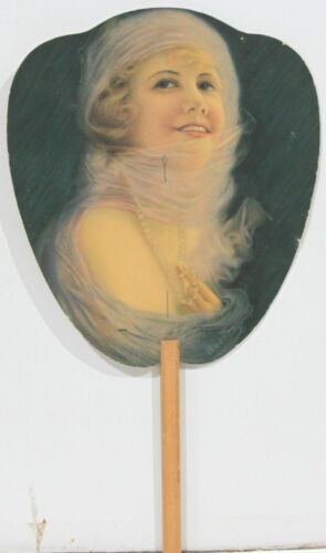Advertising Hand Fan – Russell Edwards Real Estate, Waukegan Ill c1920-40s