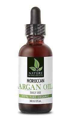 Argan oil face - MOROCCAN ARGAN OIL 100% Pure ORGANIC 60ml 2fl -1 Bottle