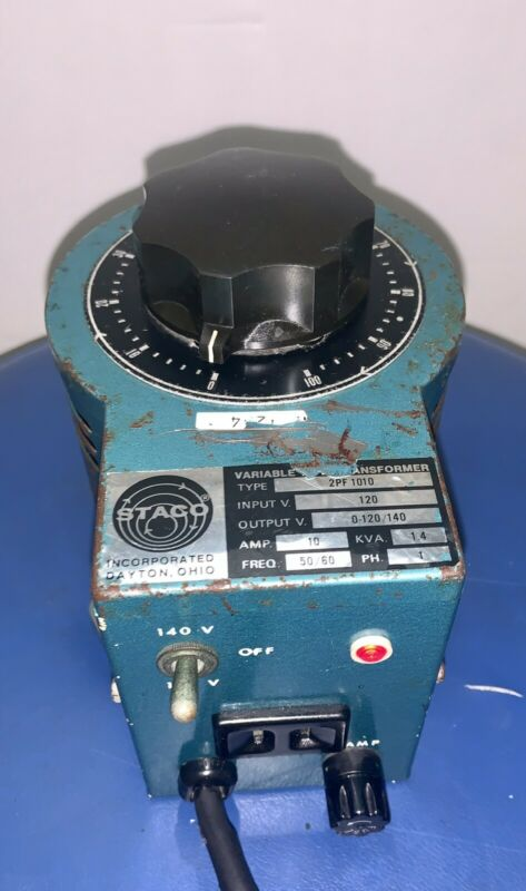 STACO VARIABLE AUTOTRANSFORMER TYPE 2PF 1010