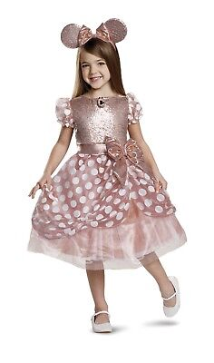 Minnie Mouse Disney Costume Halloween Rose Gold Beautiful Princess - 3t Minnie Mouse Costume