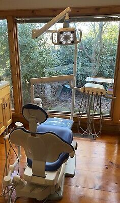 Adec 511 Dental Chair W A-dec Radius Delivery Assistants Arm Led Light