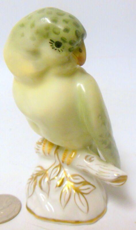 Vintage Certamic PARAKEET Parrot BIRD Figure Vista Alegre Portugal