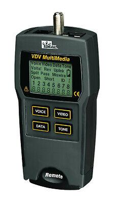 Ideal Vdv Multimedia Cable Tester 33-856 Rj11 Rj45 Coax - Remote - New In Pkg