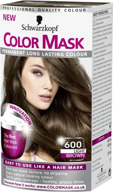 2X Schwarzkopf COLOR MASK Permanent Colour 600 Light Brown