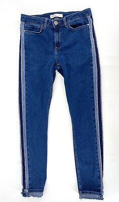 Zara Womens Size 6 Unfinished Side Hem Jeans